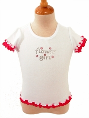 Hot Pink Flower Girl T-shirt