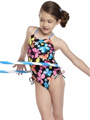 Hula Star Black/Multi Colored Hula Star Dancing Butterfly 1PC