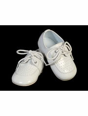 Infant Boys White Lace Up Shoes