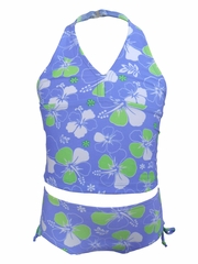 Ingear Fashions Periwinkle Floral 2PC Tankini