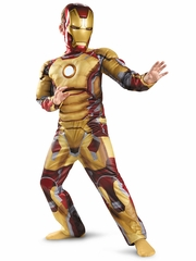 Iron Man Mark 42 Muscle Light-Up Costume