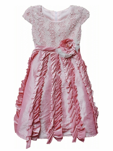 Isobella & Chloe Candied Ginger Pink Dress