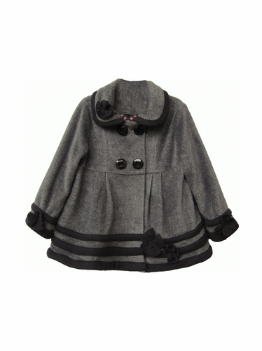 Isobella & Chloe Grey & Black Duchess Coat