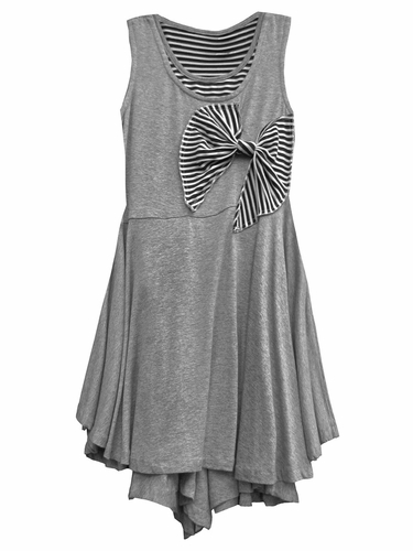 Isobella & Chloe Misty Heather Grey Dress