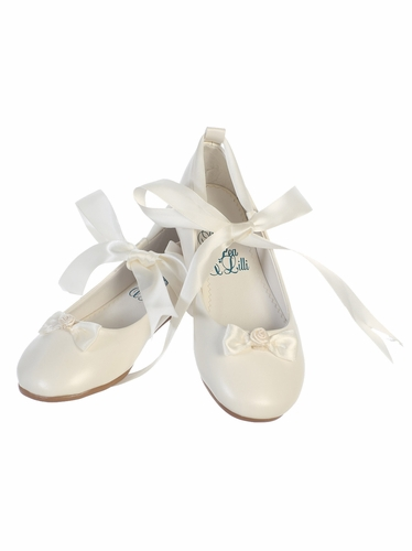Ivory Ballerina Shoe w/ Satin Ribbon