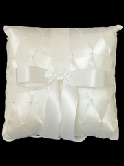 Ivory Criss-Cross Ring Bearer Pillow