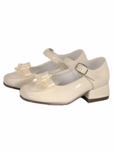 Ivory Dinkie Toddler/Youth Patent Leather Girls Shoes