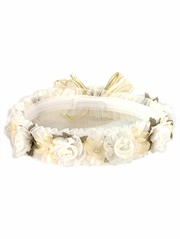 Ivory Hair Wreath