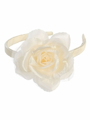 Ivory Headband w/ Large Flower