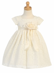 Ivory Lace Overall Dress