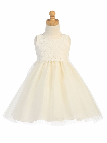 Ivory Lace & Tulle Dress