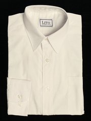 Ivory Long Sleeve Boy's Dress Shirt