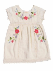 Ivory Mimi & Maggie Botanical Gardens Collection Spring Flowers Dress