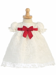 Ivory Organza Burnout Baby Dress