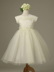 Ivory Princess Tulle Dress w/ Cap Sleeves