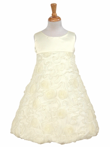Ivory Satin Top w/Mesh Skirt Dress