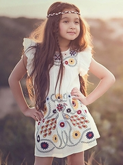 Jak & Peppar Desert Sky 'Vanilla Flower Child' Dress