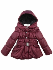 Jean Bourget Burgundy Puffy Jacket