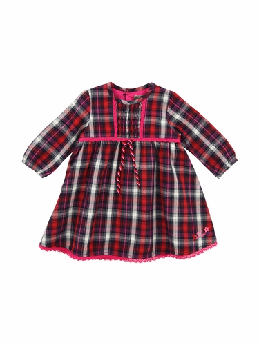 Jean Bourget Red Plaid Robe Dress