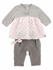 Jean Bourget Rose Tunic & Legging Set