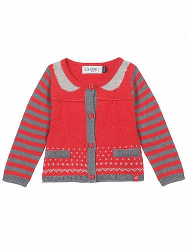 Jean Bourget Rouge Cardigan Tricot