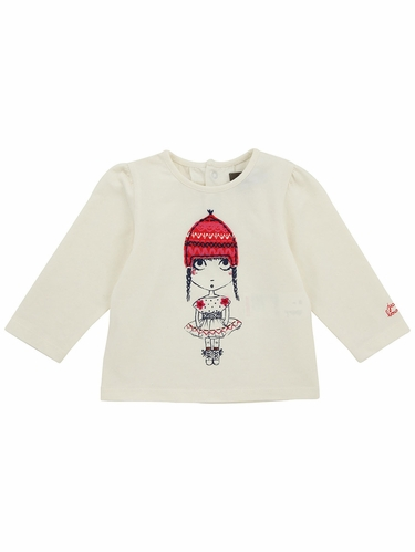 Jean Bourget White Graphic T-Shirt