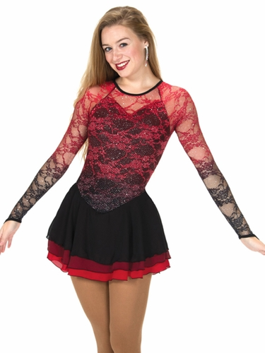 Jerry's Blaze Red Cascade Lace Dress