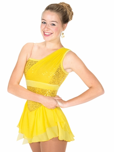 Jerry's Yellow Swags & Sequins Dress