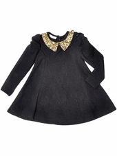 Just Fab Girls Black Sequin Dress