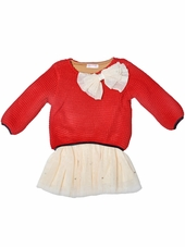 Just Fab Girls Red Sweater Dress