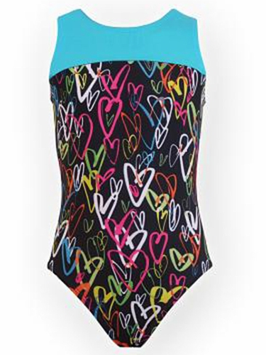 K-Bee Leotards Turquoise Luvly Multi Colored