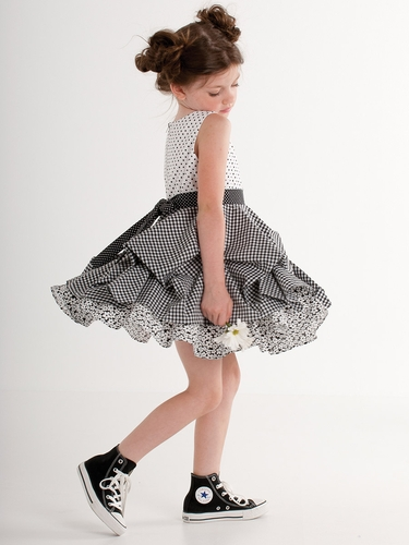 Kate Mack Black & White Dot Dress