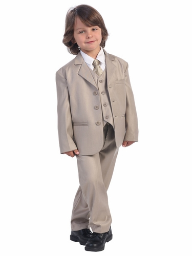 Boys' Khaki 5 Piece Suit