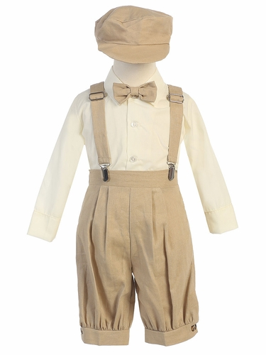 Khaki Suspender Knickers w/ Hat