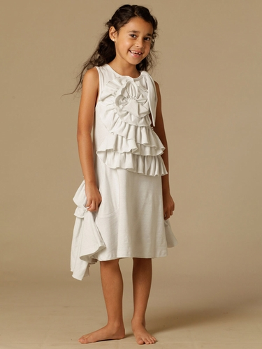 KidCuteTure Emma White Dress