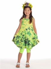 KidCuteTure Lime Fiona Dress