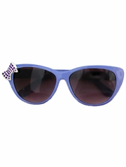 Kids Purple Sunglasses w/ Rhinestone Bow