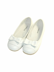 L'Amour White Ballet Bow Flat