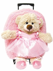 Large w/Roller Dance Ballerina Bear Backpack