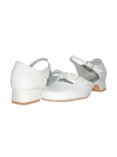 Laura Ashley White Toddler/Youth Open Shank Shoes