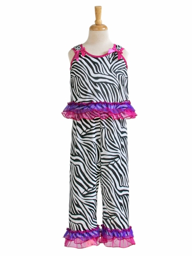 Laura Dare Zebra Bow Top PJ