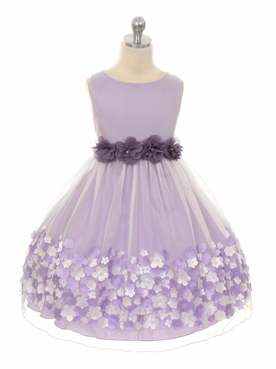 Purple Flower Girl Dress | Dress images