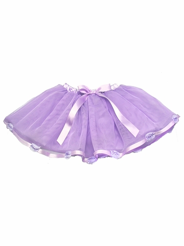 Lavender Rose Trim Tutu