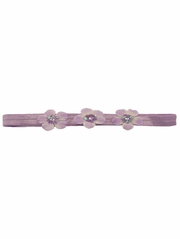 Lavender Three Flower Infant Headband