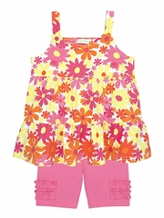 Le Top Awesome Blossom Tiered Suntop & Bike Shorts