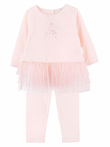 Le Top Baby Ballet Kitty Tunic w/ Tulle Ruffles & Matching Legging
