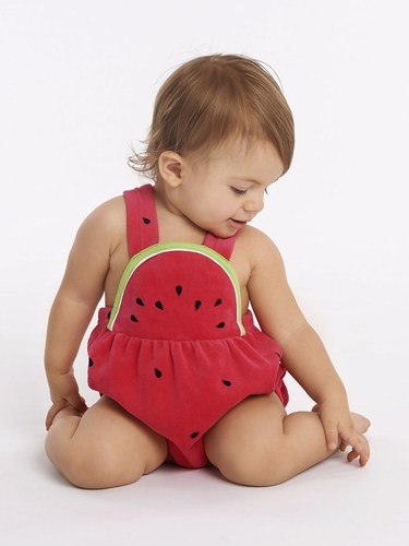 Le Top Baby Cutie Velour Sunsuit