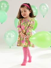 Le Top Baby Enchanted Meadow Corduroy Dress & Tights