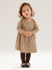 Le Top Baby Leopard Dress w/ Rhinestone Heart