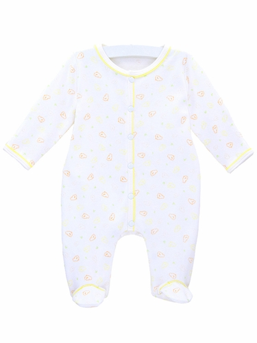 Le Top Baby Little Peeps Footed Coverall w/ Mitten Cuff